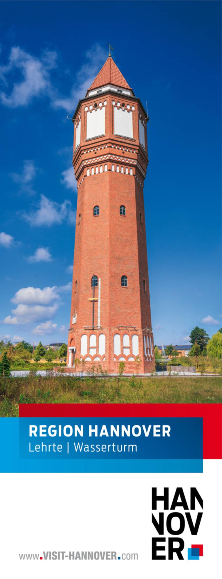 Lehrte präsentiert sich mit einem Motiv des Wasserturms.