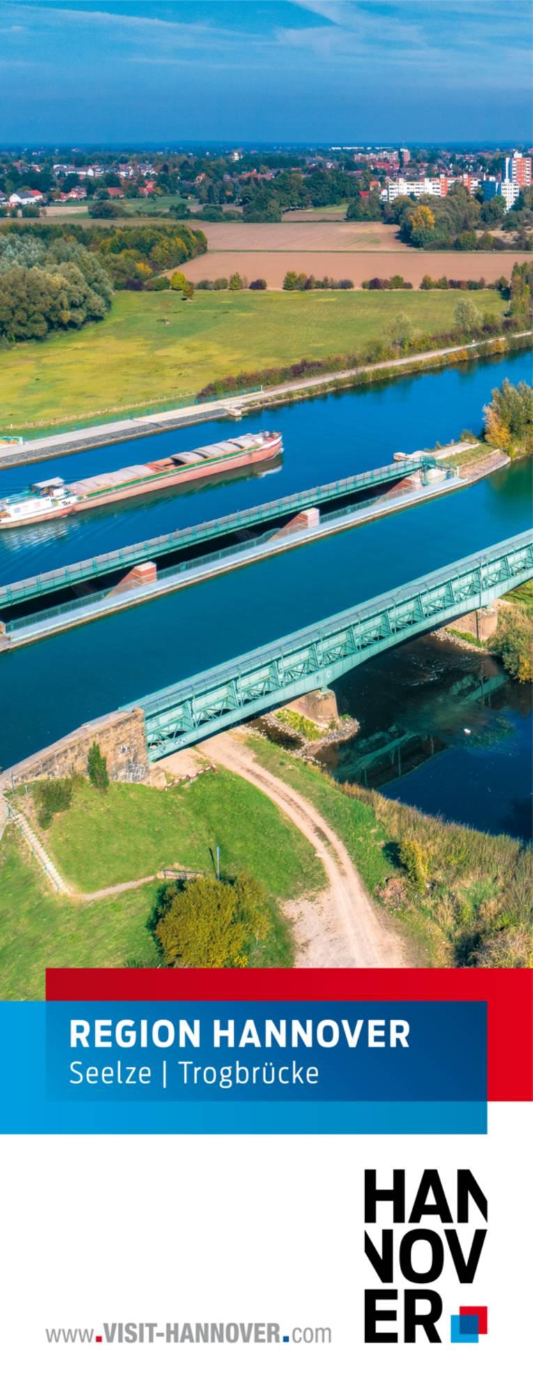 Seelze präsentiert sich mit einem Motiv der Trogbrücke.