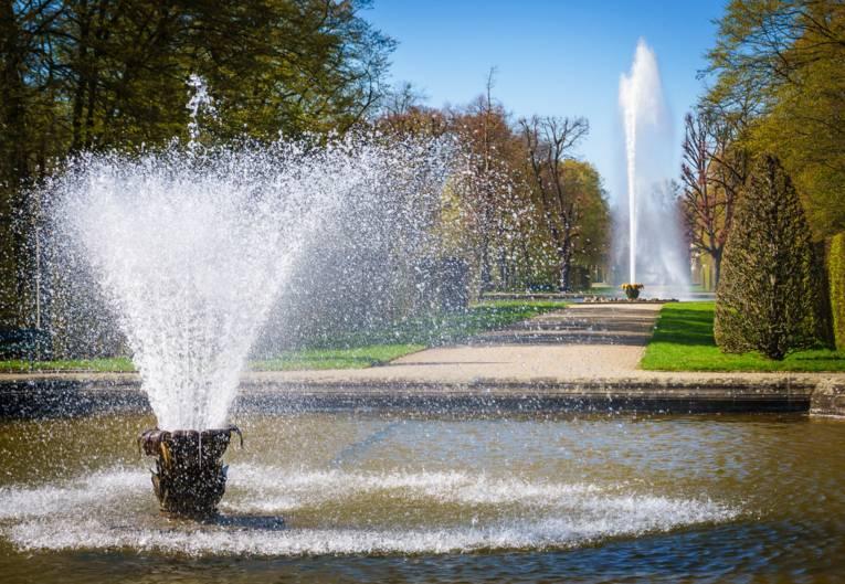 Springbrunnen und Große Fontäne in den Herrenhäuser Gärten.