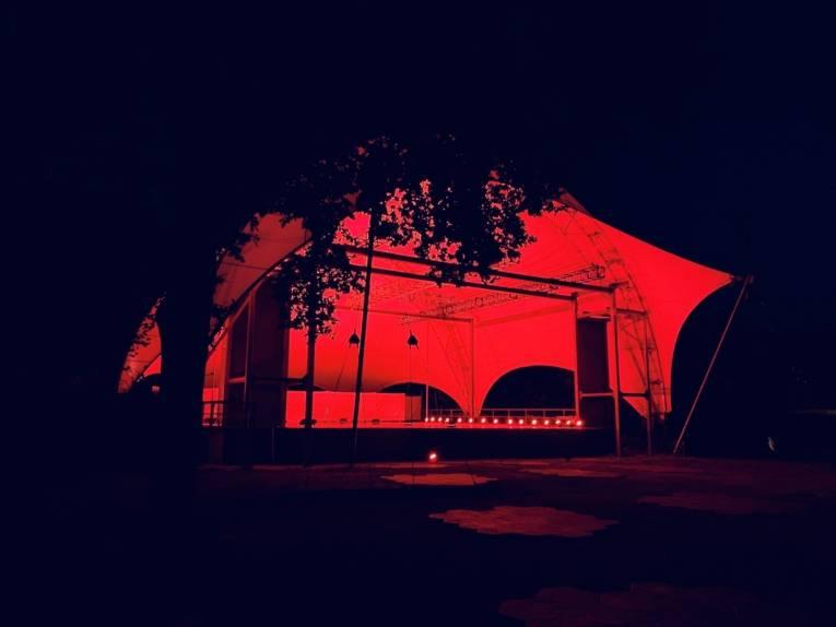 Gilde Parkbühne während der Night of Light