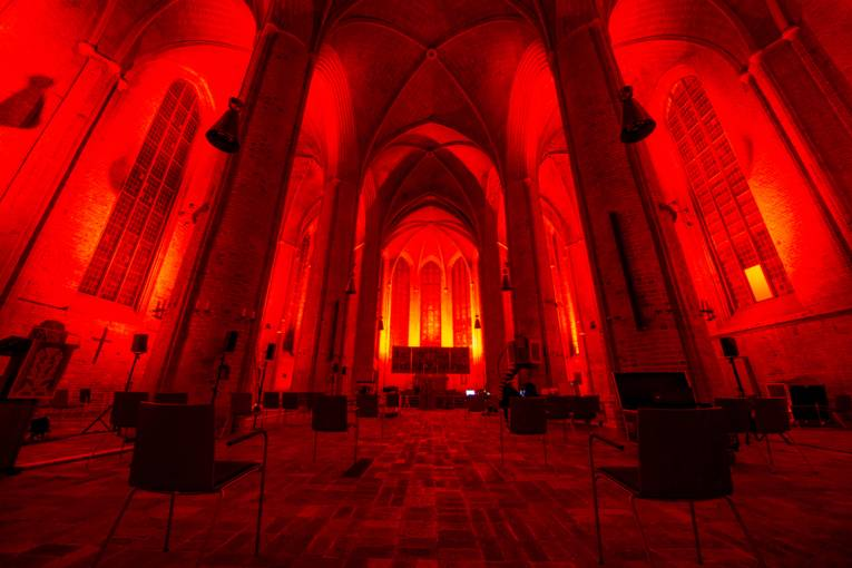 In der Marktkirche während der Night of Light