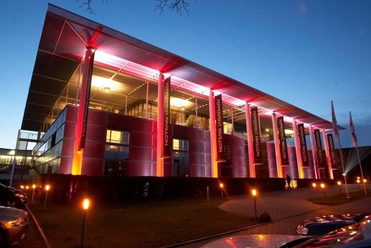 Peppermint Pavillon während der Night of Light