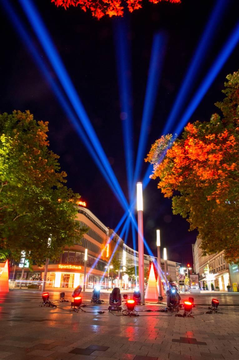Platz der Weltausstellung - Night of Light