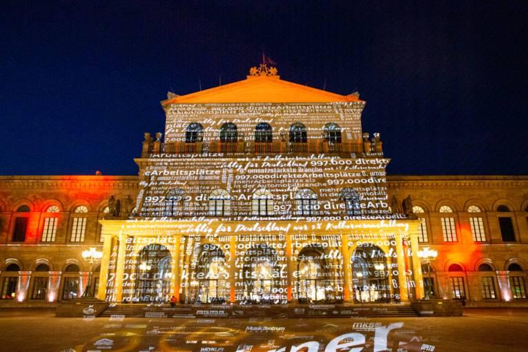 Staatsoper Hannover während der Night of Light