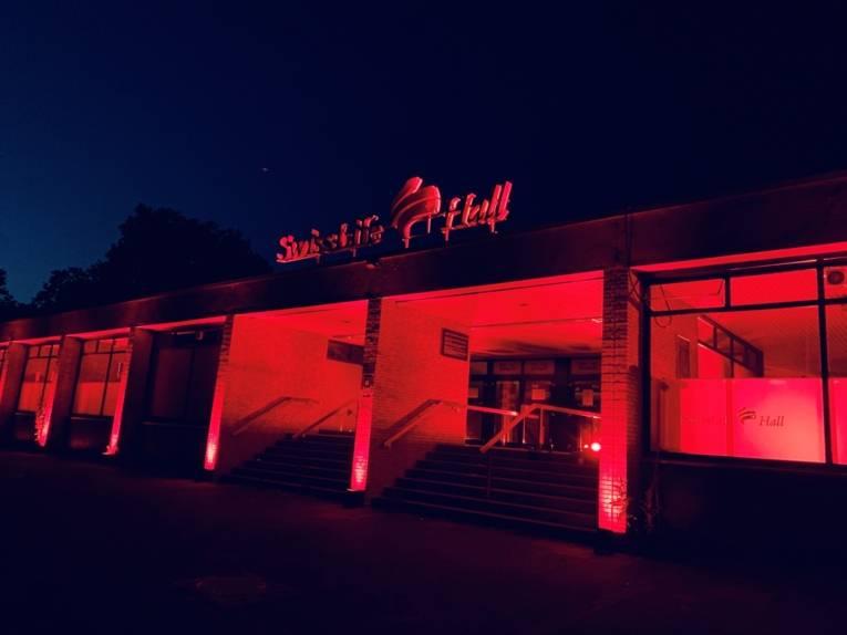 SwissLife Hall während der Night of Light