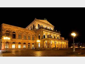 State Opera Hanover lighted