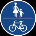 Schild: Gemeinsamer Fuß- und Radweg