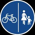 Schild: Rad- und Gehweg getrennt