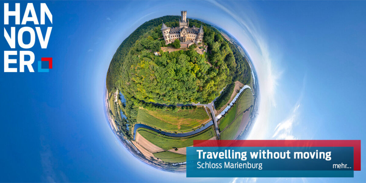 Schloss Marienburg in 360 Grad.