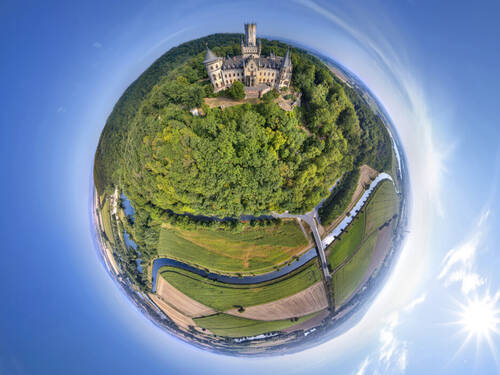 Schloss Marienburg in 360 Grad