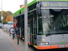 Fahrrad im Bus