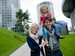 Family in the Autostadt Wolfsburg