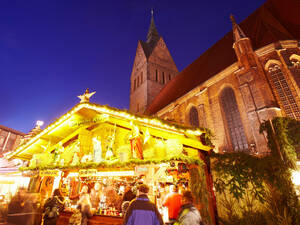 Christmas market stall at Marketchurch in the old town