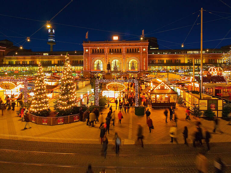 Christmas market at central station
