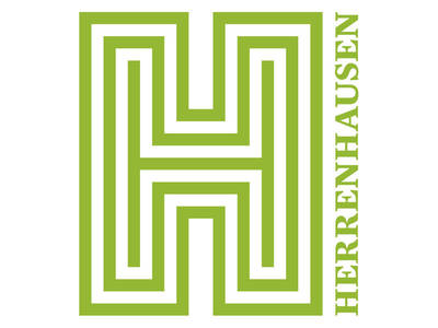 The logo of Herrenhausen Gardens shows a H-formed maze