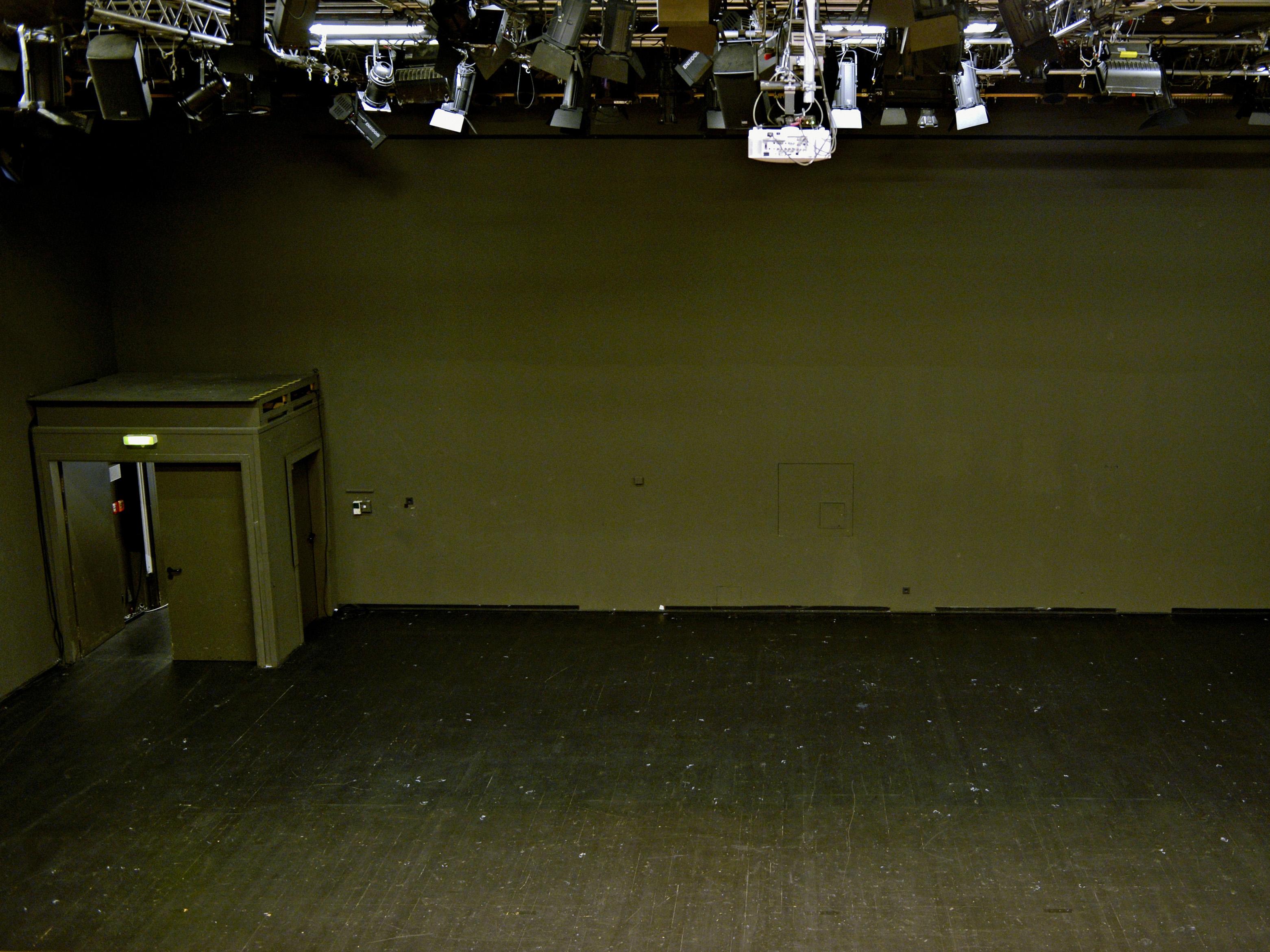 Eine Bühne.