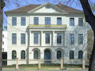 Frontansicht Laveshaus Hannover, Sitz der Architektenkammer Niedersachsen