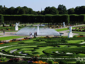 Parterre with Fountain
