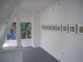 Innenansicht des Kunstraumes Benther Berg