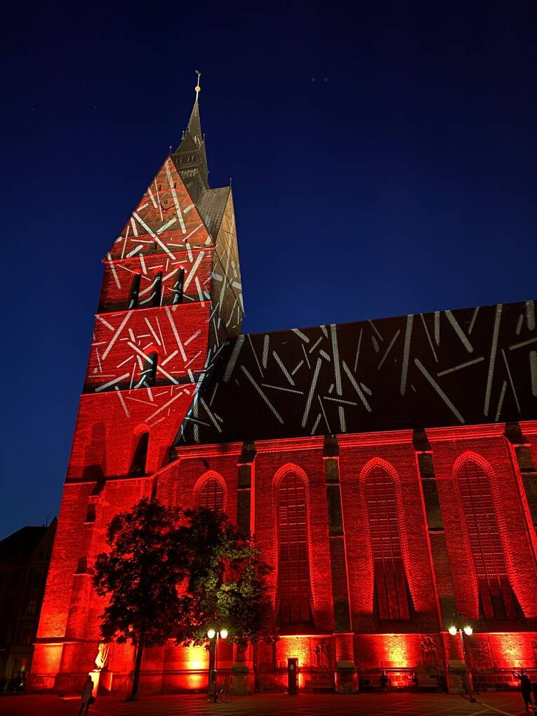 Marktkirche während der Night of Light