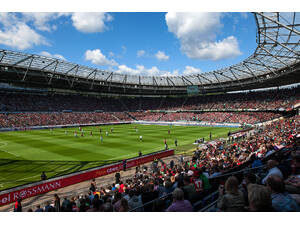 The home of Hannover 96 football club: the AWD Arena, seating almost 50,000