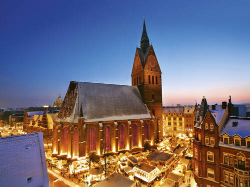 Christmas market in the old town of Hannover